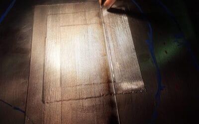 Reprise de volume sur outillage de drapage